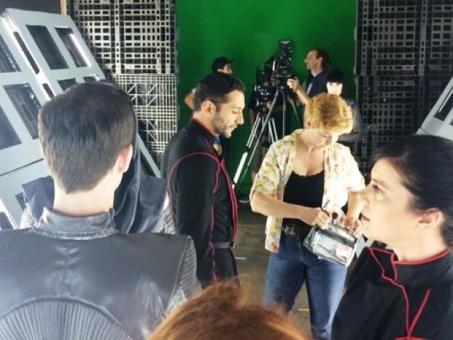 Lisa Hansell on set, Nobility Season One