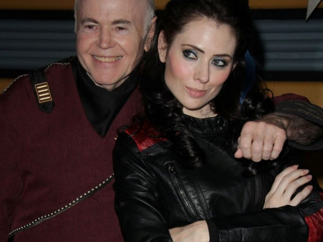 Walter Koenig as Chekov and Andrienne Wilkinson as Lexxa, Star Trek Renegades