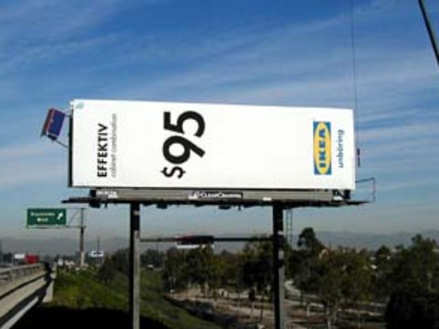 Effektiv Cabinet Billboard, IKEA Ad Campaign, 110 Freeway, Los Angeles