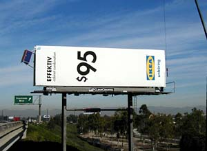 Effektiv Cabinet Billboard, IKEA Ad Campaign, 110 Freeway, Los Angeles