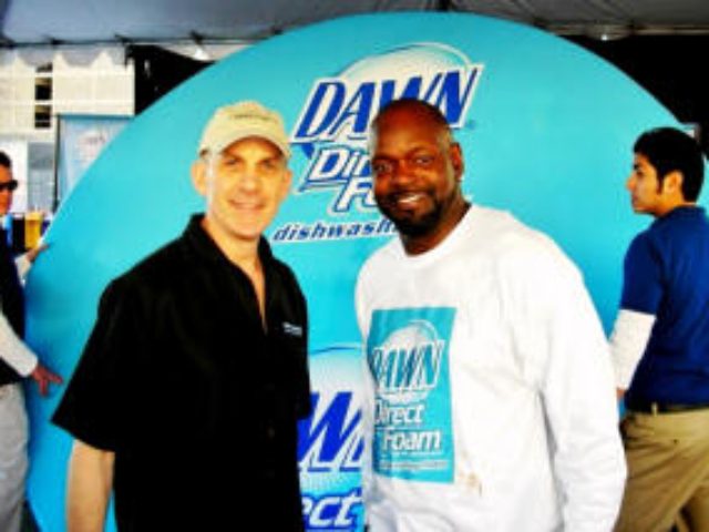 Tim with Football Legend Emmett Smith - Guinness Book of World Records