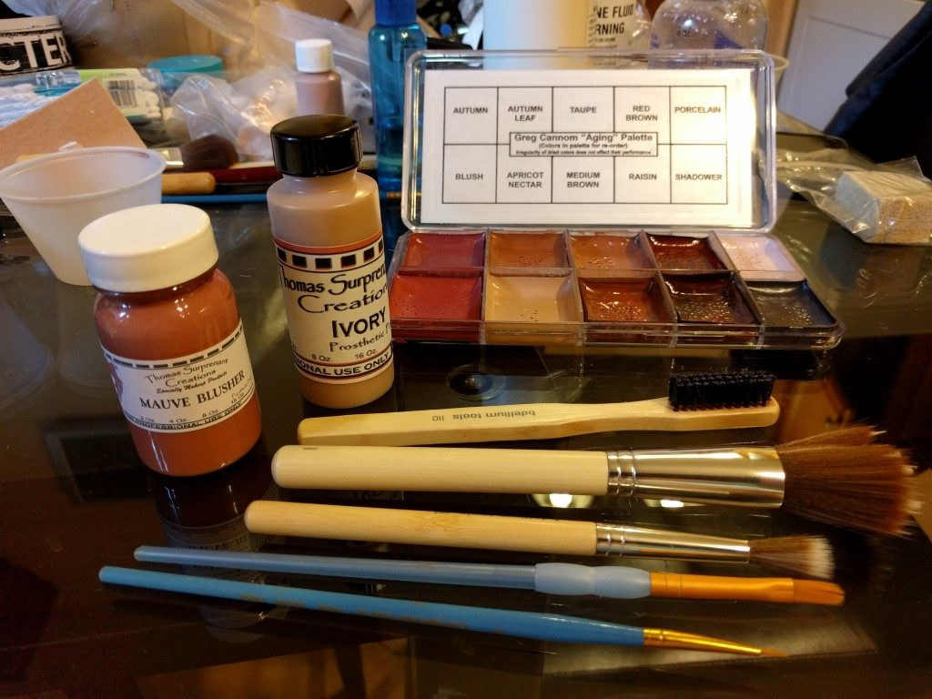 Makeup and Tools Used for Old Age Makeup Application, Star Trek Continues, Eps 8, Still Treads the Shadow