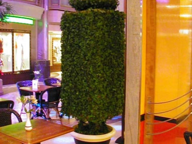 Tea Cup Topiary, Cafe Promenade, Royal Caribbean Cruise Lines, Adventure of the Seas