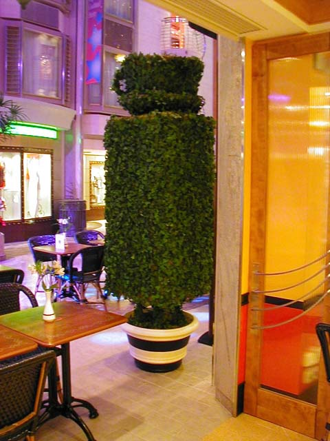 Tea Cup Topiary, Cafe Promenade, Royal Caribbean Cruise Lines