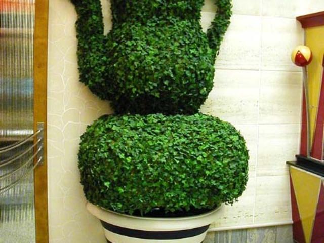 Teapot Topiary, Cafe Promenade, Royal Caribbean Cruise Lines