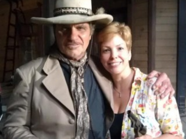 Martin Kove as the Mentor, with Lisa Hansell, Six Gun Savior