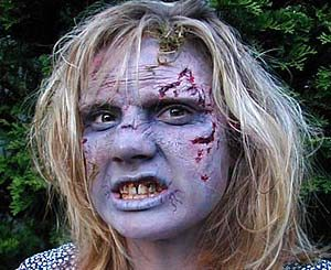 Example Zombie Appliance Makeup Application