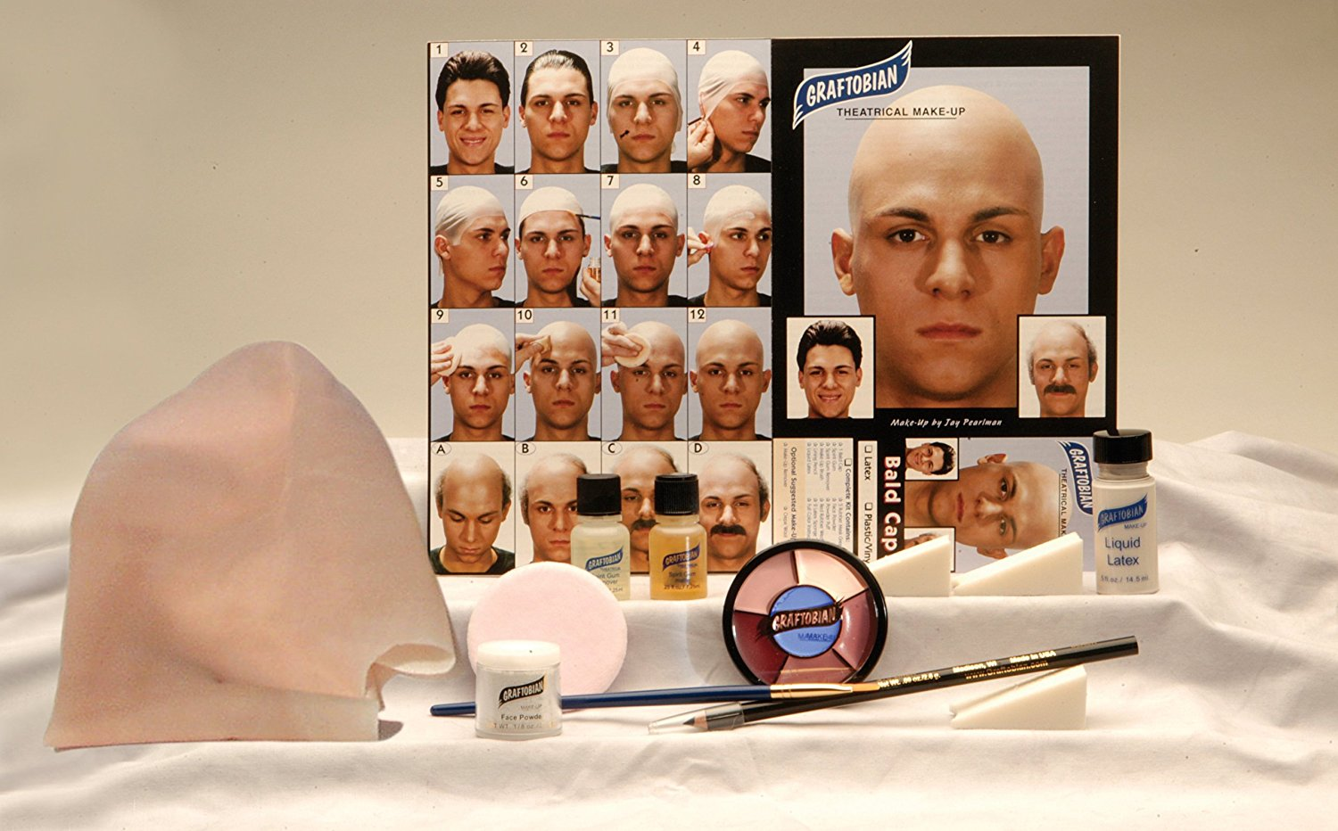 Bald Head Cap Kit with Instructions
