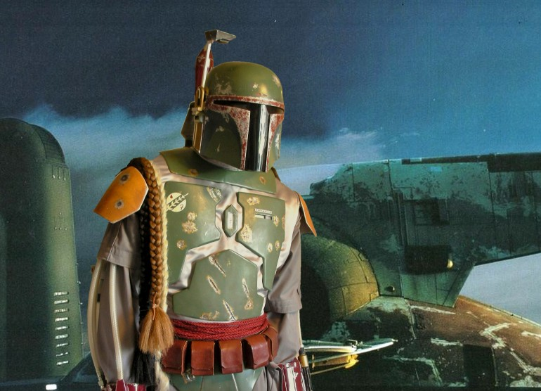 Boba Fett Costume with Slave 1