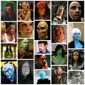 Collage of Special Effects Foam Latex Masks and Appliances