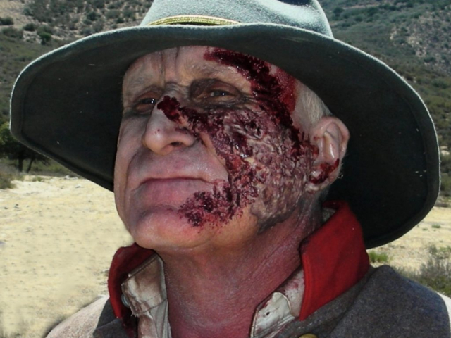 Zombie Makeup - the General, played by John Branagan in Six Gun Savior - Makeup by Tim Vittetoe, ImpaQt FX