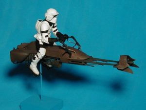Stop Motion Articulated Figure (Private Collection), Star Wars® Bike Trooper Model