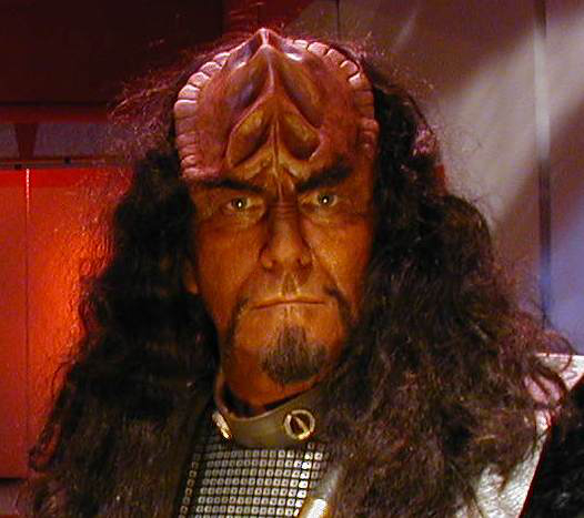 Klingon, played by Keith Blatt, Star Trek: Of Gods and Men, Makeup by Tim Vittetoe, ImpaQt FX