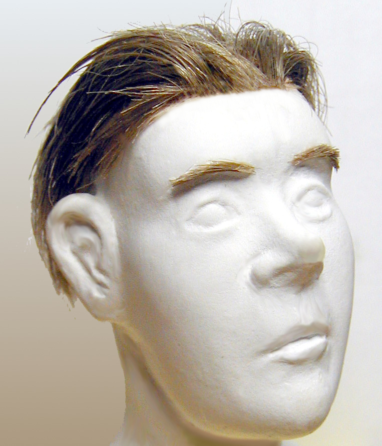 Stop Motion Figure Wig and Eyebrows