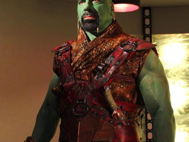 Lou Ferrigno as Zaminhon, Star Trek Continues Ep2, Lolani - Makeup by ImpaQt FX