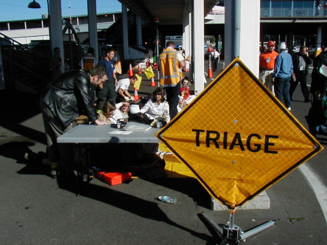 Triage Station, Port of Seattle Ferry MTR training, Edmonds, WA