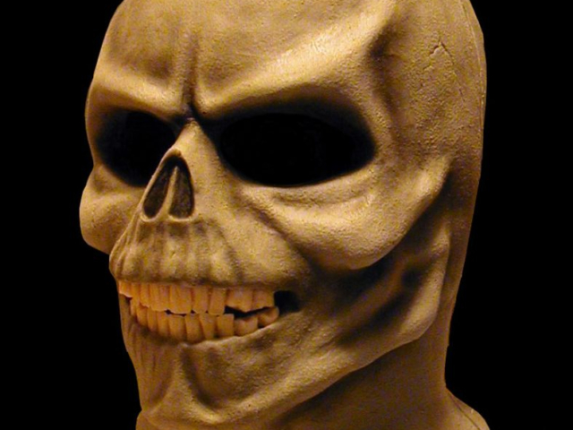 Skull Mask, Van Helsing Maze Attraction, NBC-Universal Studios, Sculpt, Foam Latex Pull-over Mask by Tim Vittetoe, ImpaQt FX