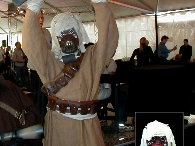 Tusken Raider Costume at Star Wars: Episode I Fund Raiser