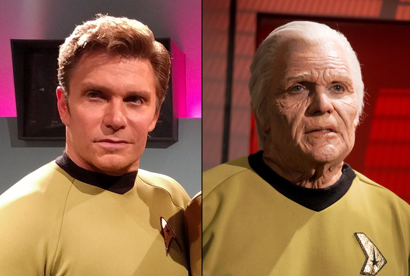 Vic Mignogna as Young and Old Captain Kirk Star Trek Ep8 Still Treads the Shadow - Makeup by ImpaQt FX