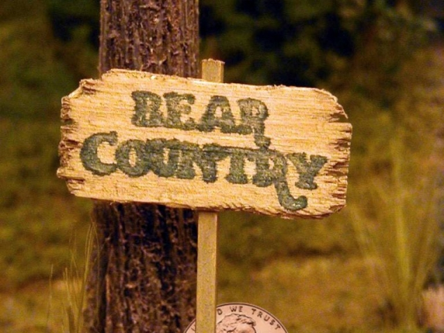 Miniature Bear Country Sign for Children's TV Pilot