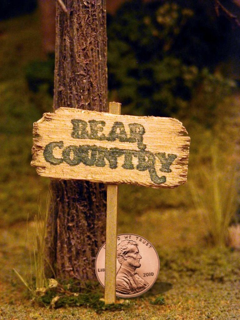 Bear Country 1 inch Sign