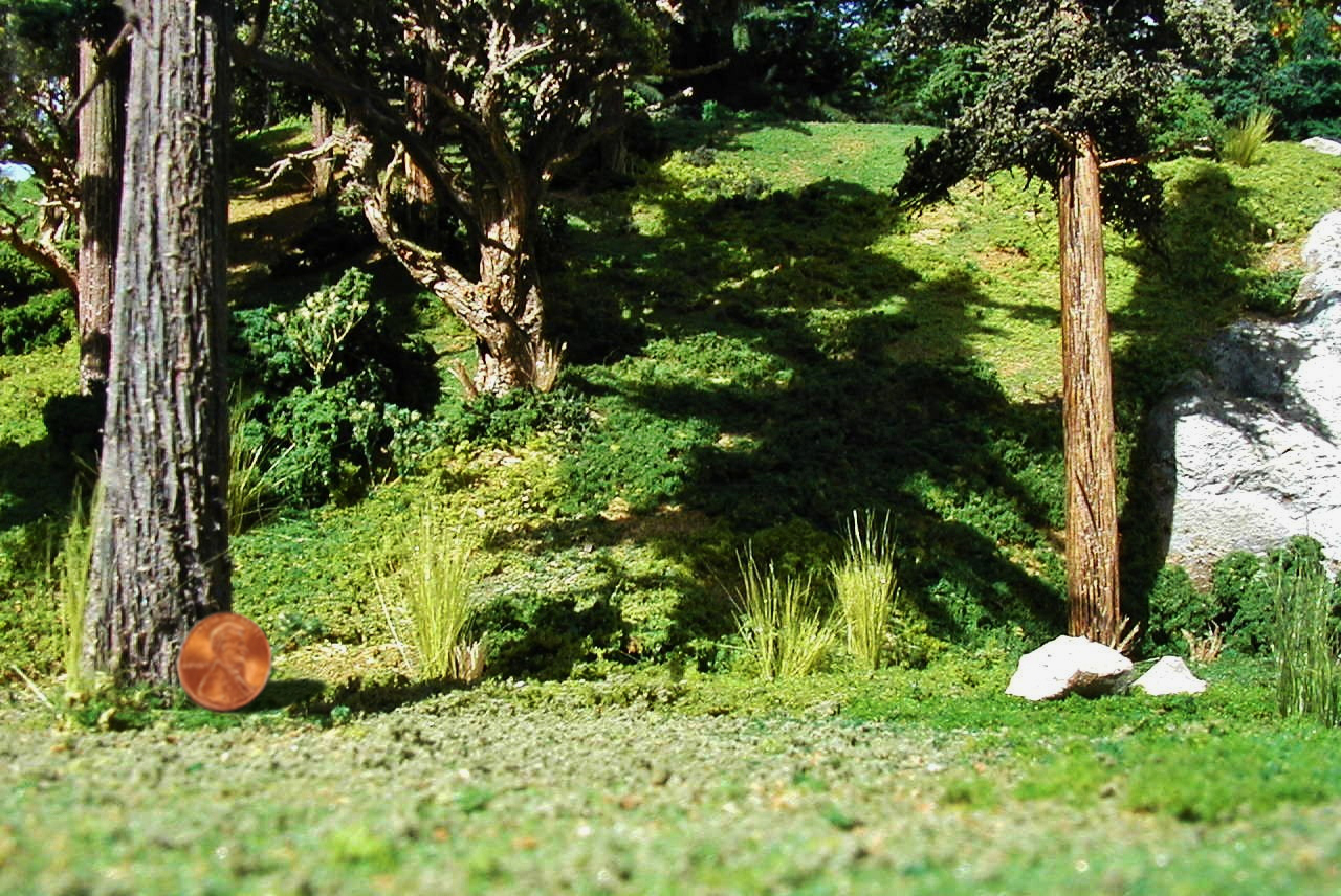 A Few of the 25 Trees Used for this Diorama Created for a Children's TV Show Pilot