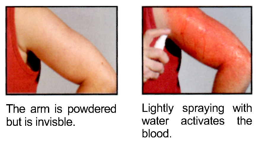 How to use magic blood powder™ on Arm