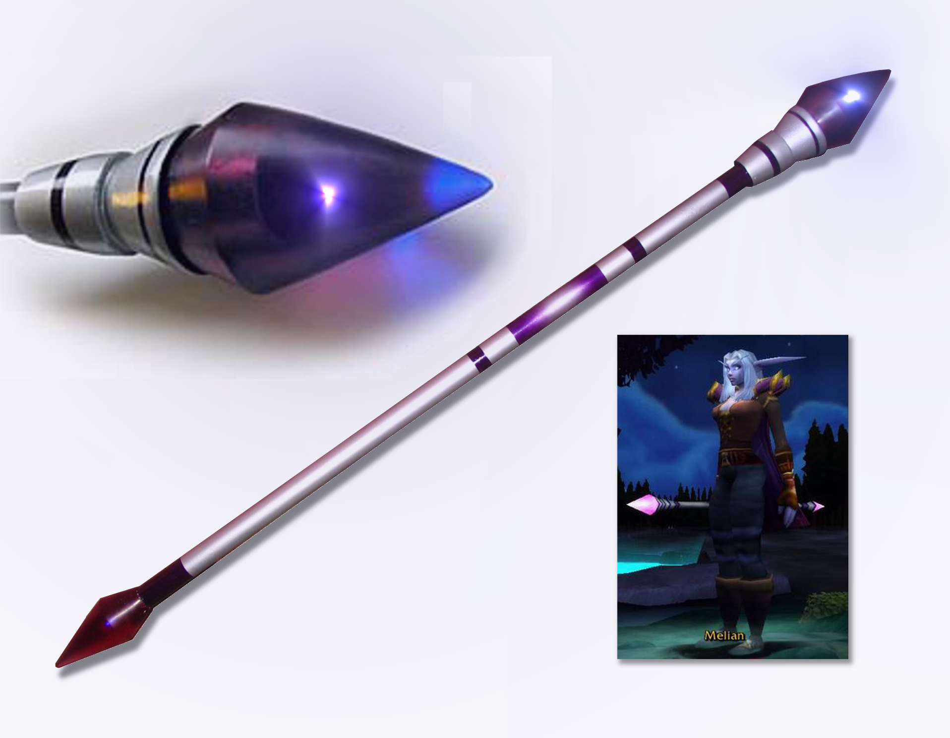 Lighted Staff for Melian Cosplay