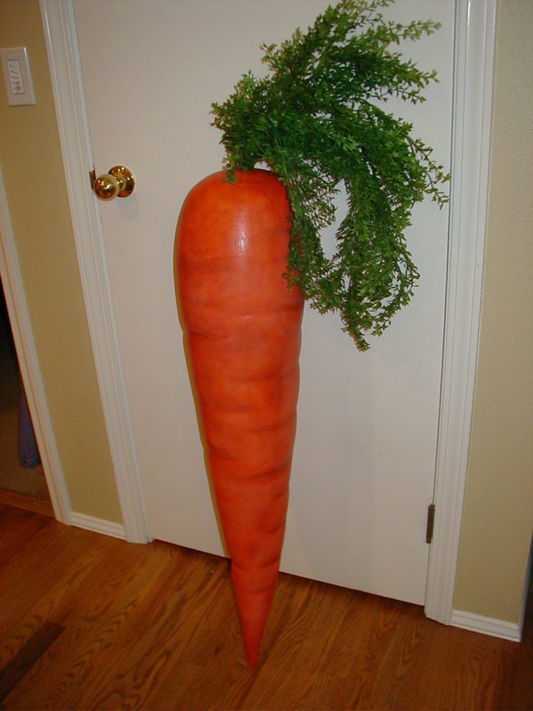 Large Carrot Used in Wisconsin Lotto Commercial