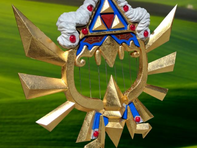Sheik's Harp, Cosplay Character, Hyrule Warrior, Legend of Zelda, Icarina Theme Song Playback