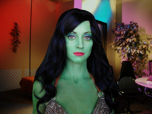 Fioan Vroom as Lolani, Star Trek Continues Ep2, Beauty Makeup by Lisa Hansell