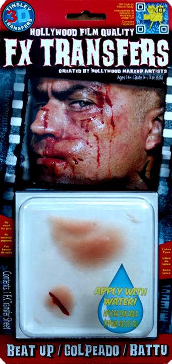 """Beat Up"" Split Nose, Split Lip, Swollen Cheek 3D FX"