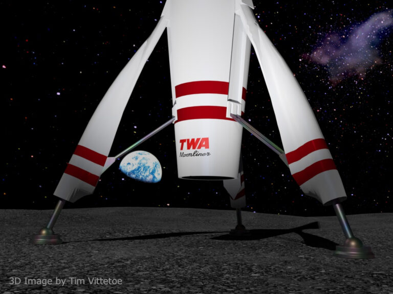 TWA 1955 Moonliner with Earthrise