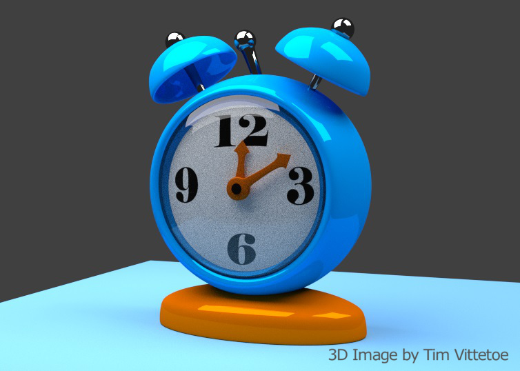 Stylized Clock 3D Digital Image by Tim Vittetoe