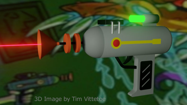 Laser Gun Inspired by Rick and Morty 3D Render by Tim Vittetoe