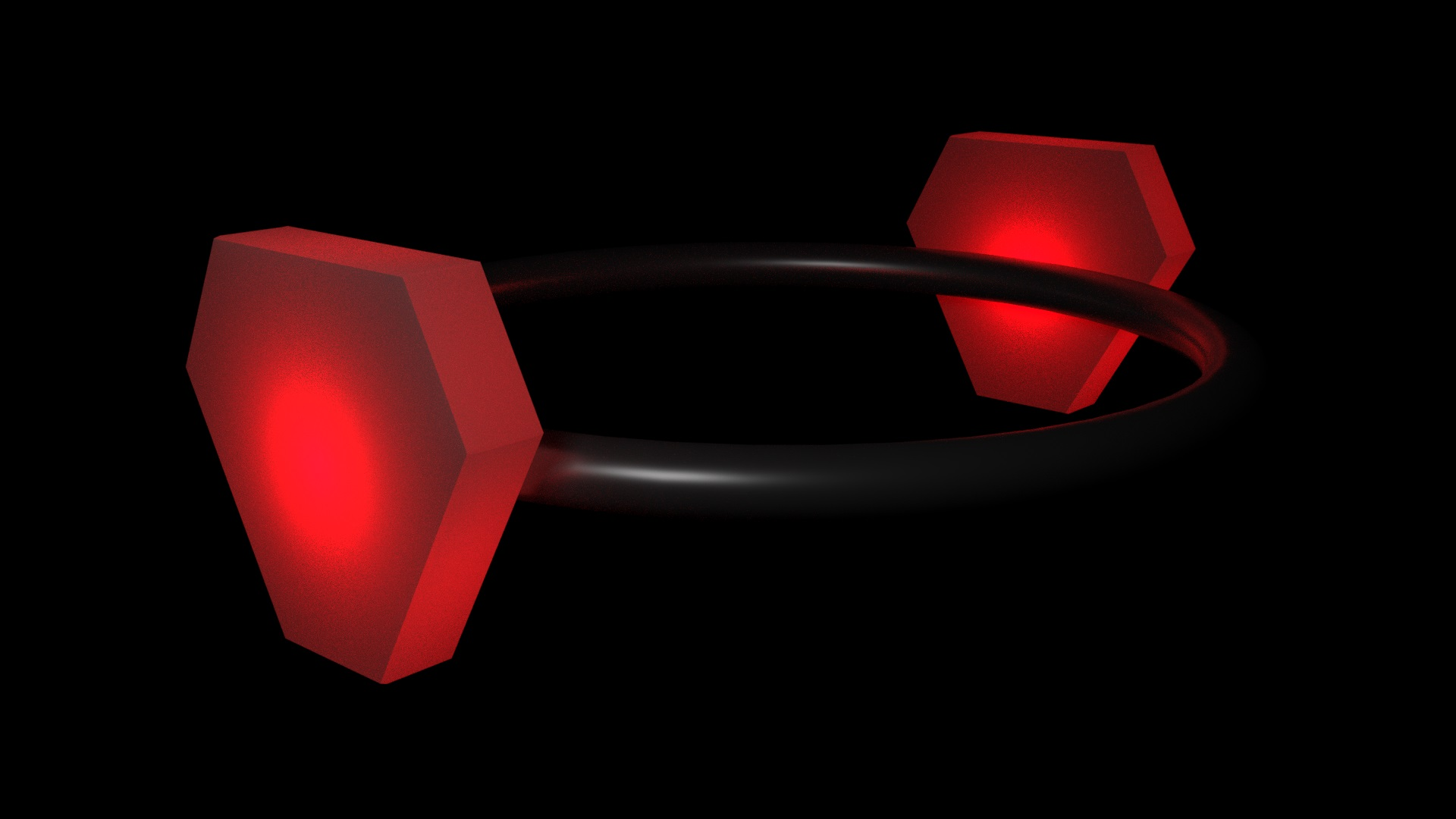 Red Obedience Collar 3D Digital Image