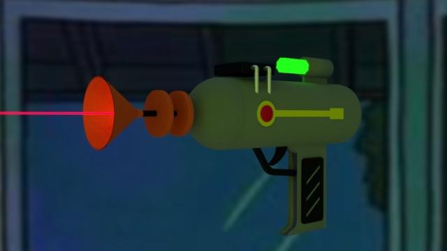 Laser Gun 3D Digital Image