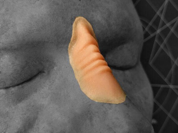Bajoran Style Nose Bridge Encapsulated Plat Sil with Baldiez