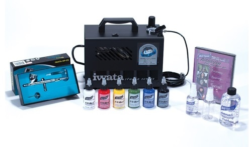 Iwata HP-CS Airbrush Kit FX Aire Makeup with Airbrush Cleaner